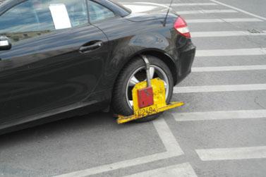 Fahrzeugkralle, Fahrzeug abschleppen