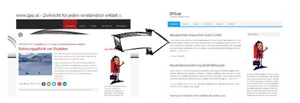 ZPO.at Blog neues Design